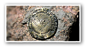 Mount Bierstadt - Geological Marker at Summit